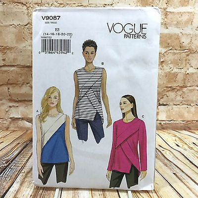 Vogue 9087 Womens Plus Size Loose Fitting Top Sz 14 22 Uncut Sewing ...
