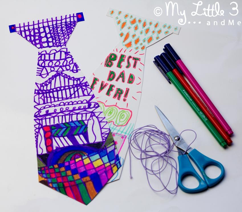 Fathers day necktie gift fathers day crafts first