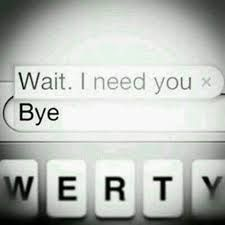 wait . I need you ... bye