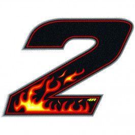 #Quattroerre adesivo numero 2 fiamme  ad Euro 3.20 in #Wheelup #Per la moto ricambi