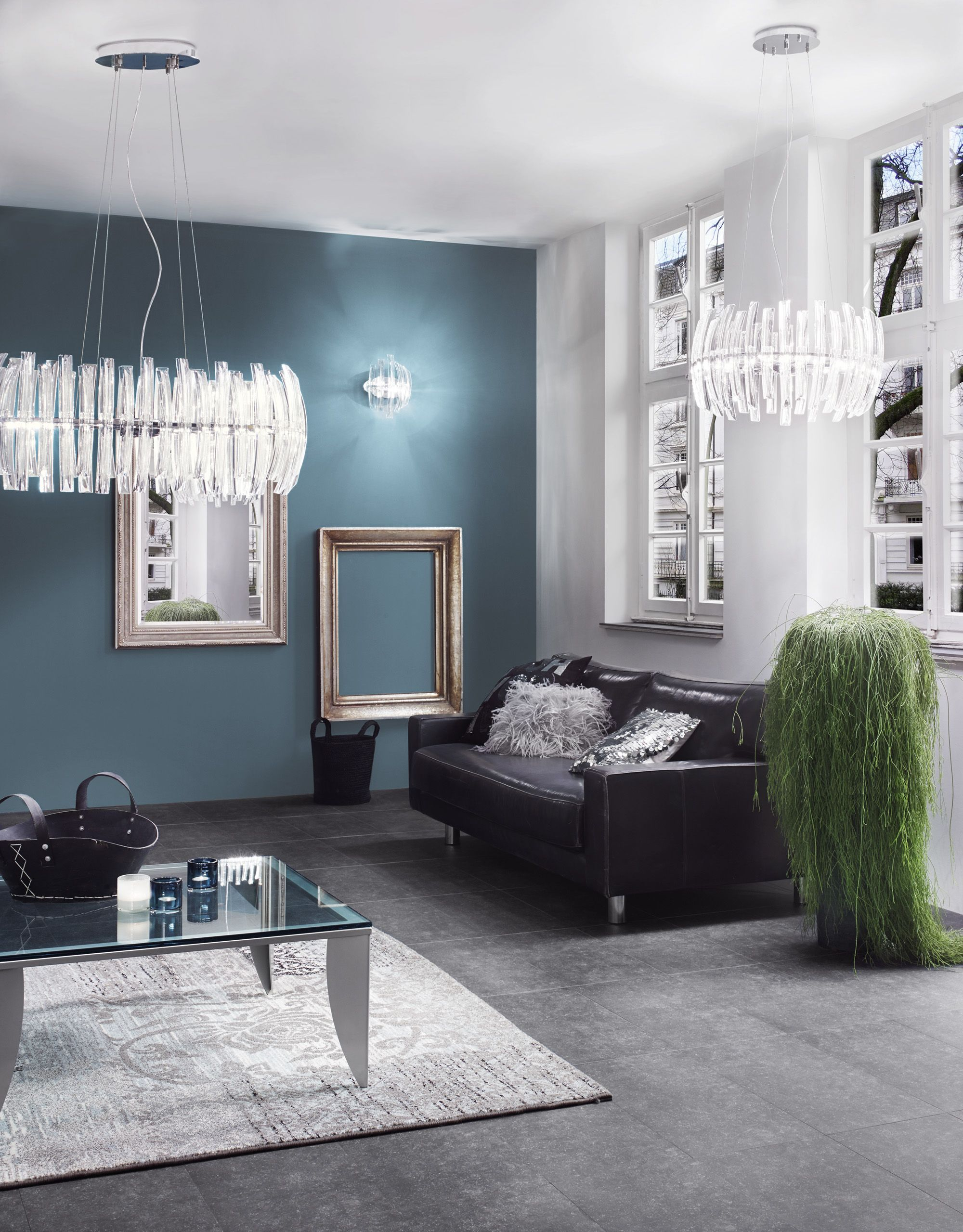 Eglo drifter family with pendant lamps 89203 and 89205 and wall lamp 89206 avantgarde