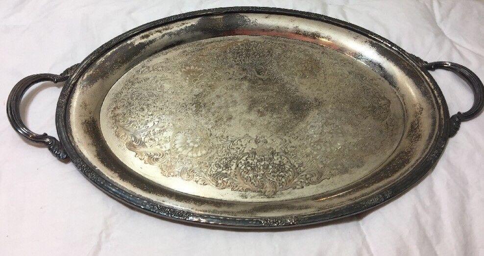 Vintage International Silver Camille Plated Serving Platter 20 Inch 6081 Internationalsilver