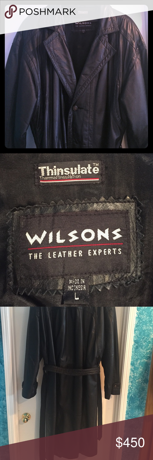 1998 Wilson Thinsulate Leather Trench Coat Leather Trench Coat Wilsons Leather Wilsons Leather Jacket [ 1740 x 580 Pixel ]