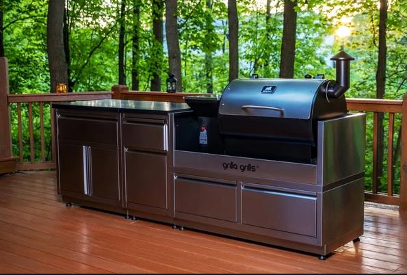 Luxury Outdoor Kitchen Island For Bbq Smoker Grills Grilla Grills Outdoor Kitchen Outdoor Bbq Kitchen Luxury Outdoor Kitchen