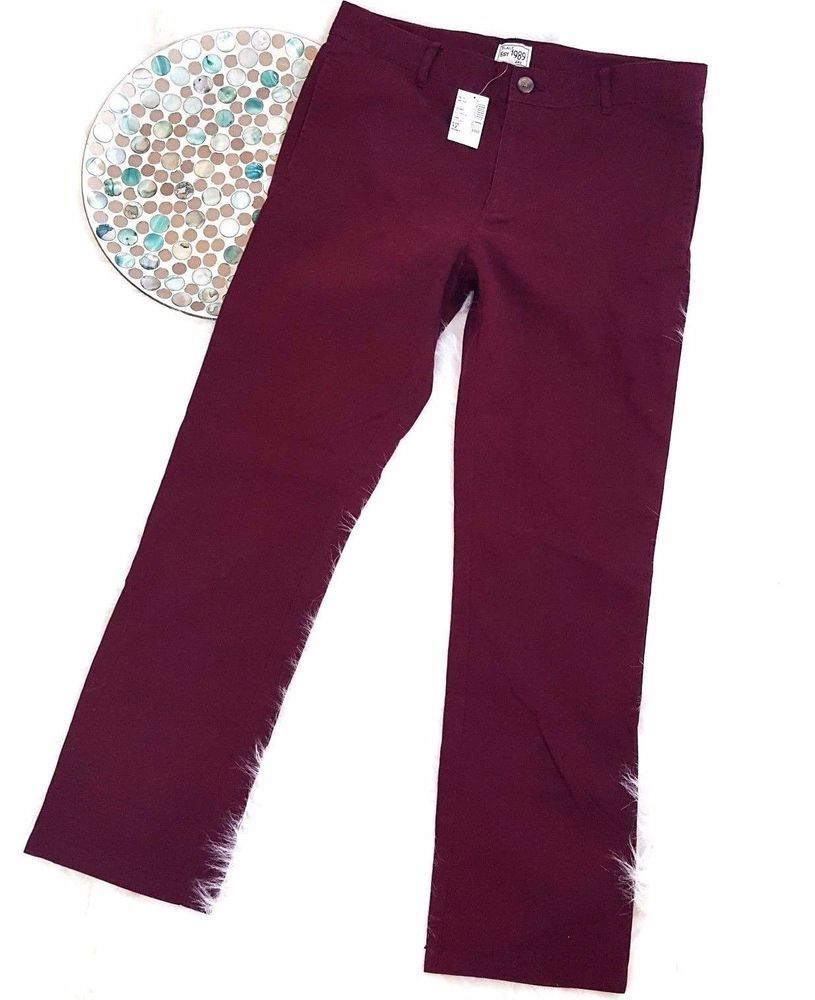 aafb1fff537 NWT The Childrens Place Boys Pants Size 12 Husky Maroon Straight Chinos  o564  TheChildrensPlace  KhakisChinos  DressyEverydayHoliday