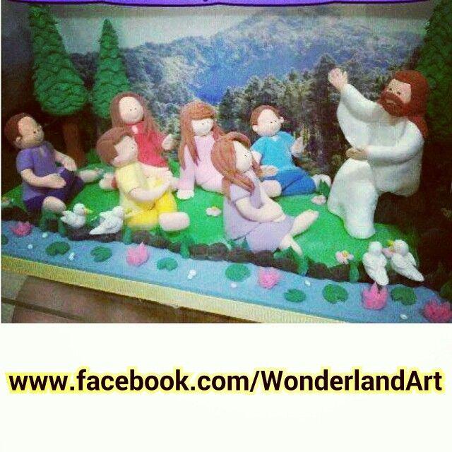 3D clay art - Jesus enlighting the people^^