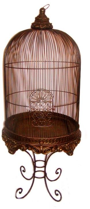 decorative bird cage with stand bronze imperial collections birdcages bird cage bird cage. Black Bedroom Furniture Sets. Home Design Ideas