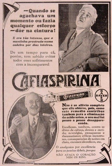 Iba Mendes: Anúncios antigos de remédios: CAFIASPIRINA