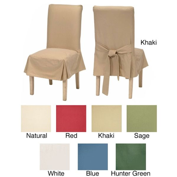 Change The Look Of Your Dining Room Chairs With This Set Two Cotton Duck Slipcovers