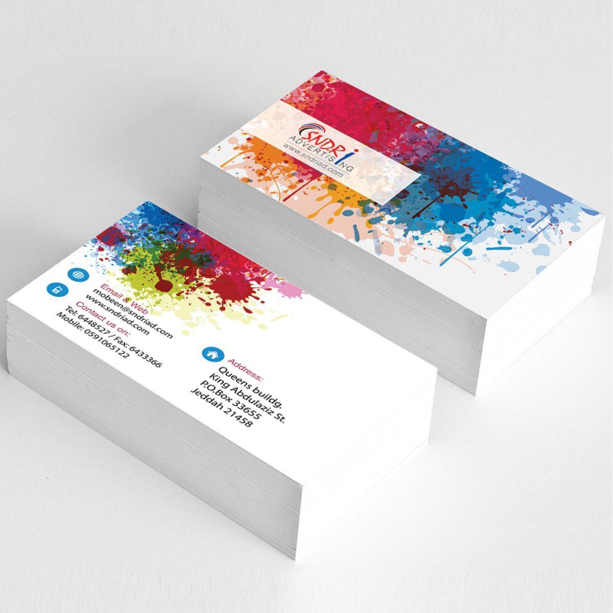 Entwerfen Und Drucken Sie Ihre Visitenkarten Zu Hause