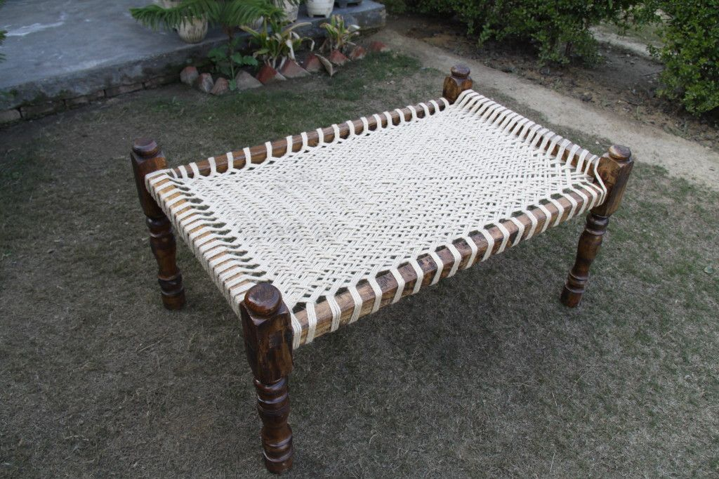 Manji Jute Woven Wooden Cot Projects Furniture