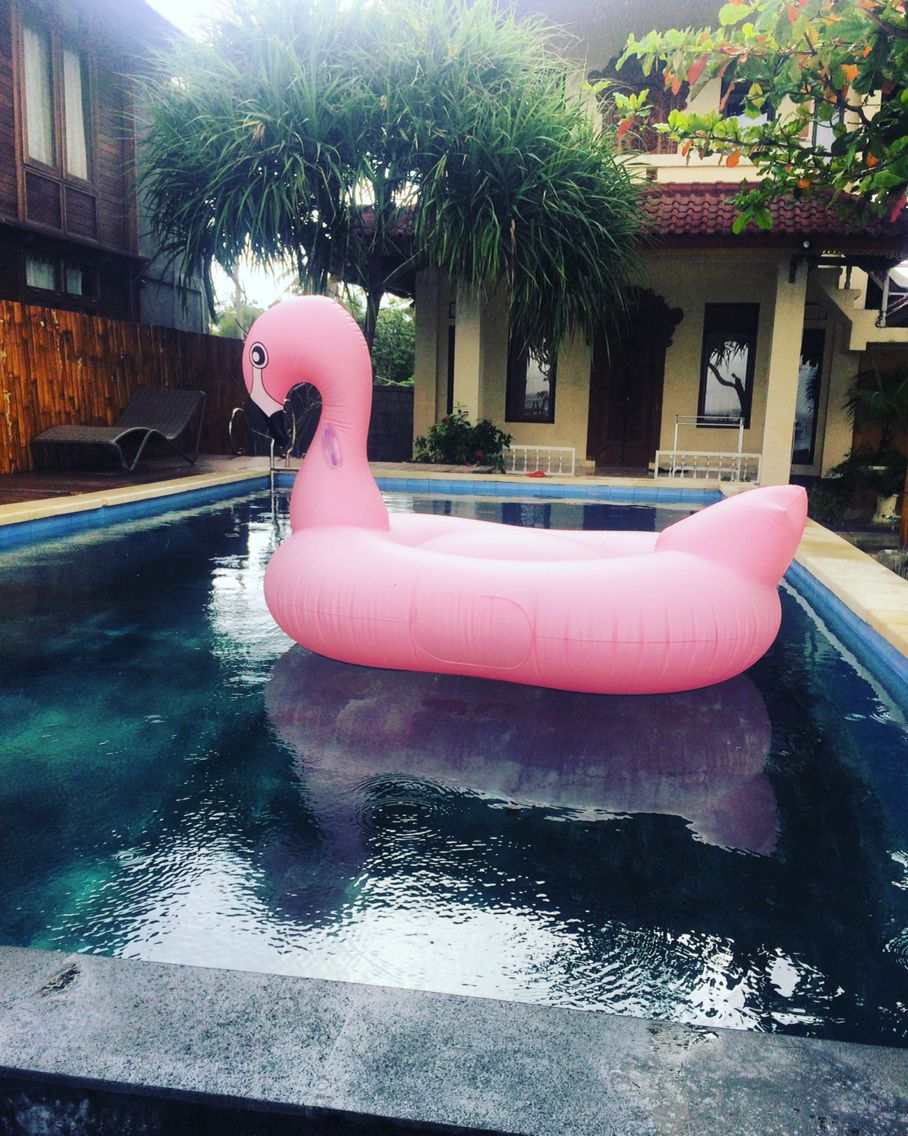 Relax Time with pink flamingo