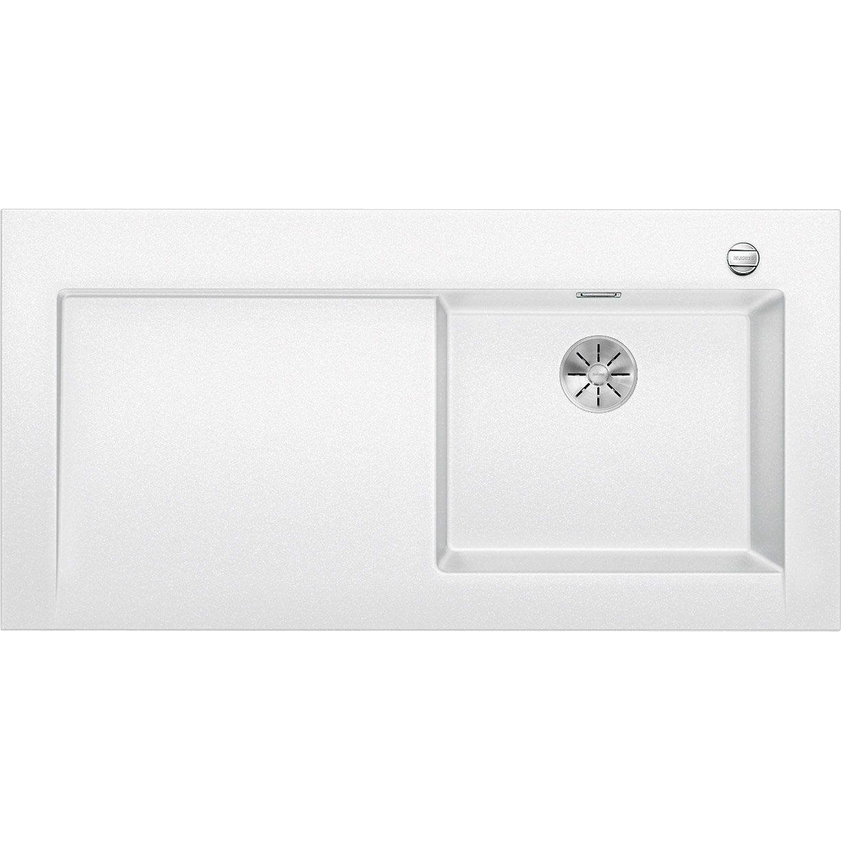 Evier à Encastrer Granit Blanc Blanco Modex M 60 1 Bac Avec