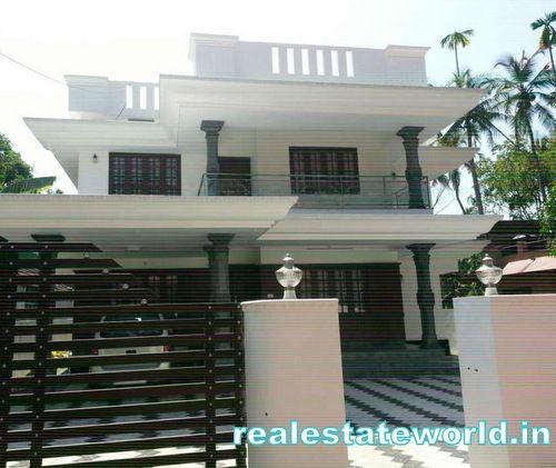 Kerala Real Estate Kerala Properties Kerala Land Villas In Kerala Flats In Kerala Land House Outside Design Flat Roof House Designs House Designs Exterior