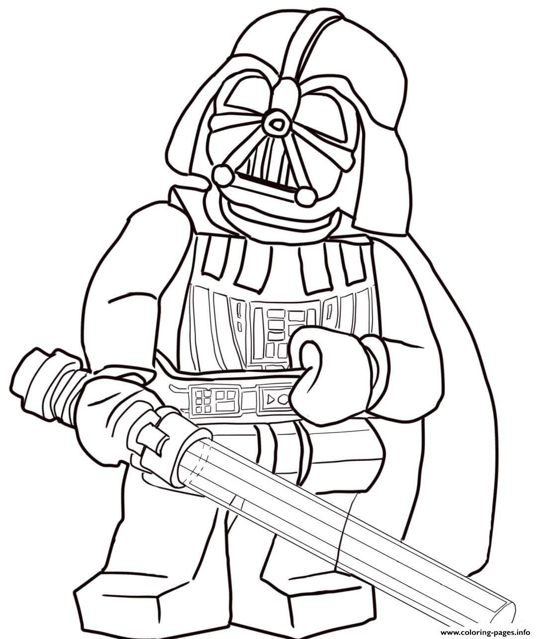 Print Lego Star Wars Darth Vader Coloring Pages Kleurplaten