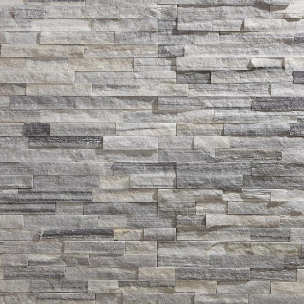 Devon Gray Splitface Quartzite Panel Ledger Stone Accent Walls Grey Stone Fireplace Exterior Stone