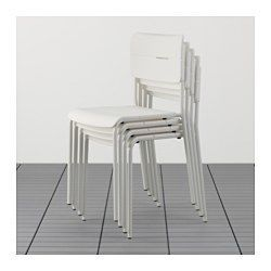 IKEA   VÄDDÖ, Stuhl/außen, , Stuhl Aus Pulverlackiertem Stahl Und  Kunststoff