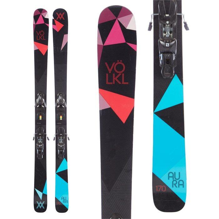 Volkl Aura Skis Salomon Z12 Bindings 2015 Used Volkl Skiing Salomon