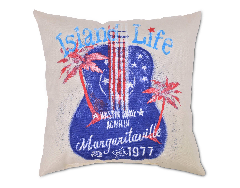 Outdoor Pillow Island Life Guitar Tan Margaritaville $22 99
