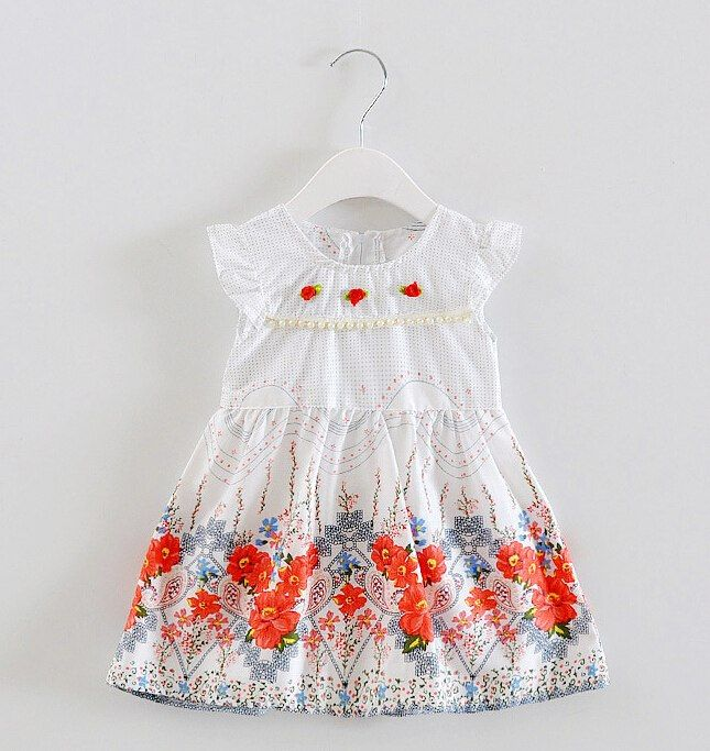 f02368532400b 2017 new girls dress baby princess dress Kids girls clothes cotton ...