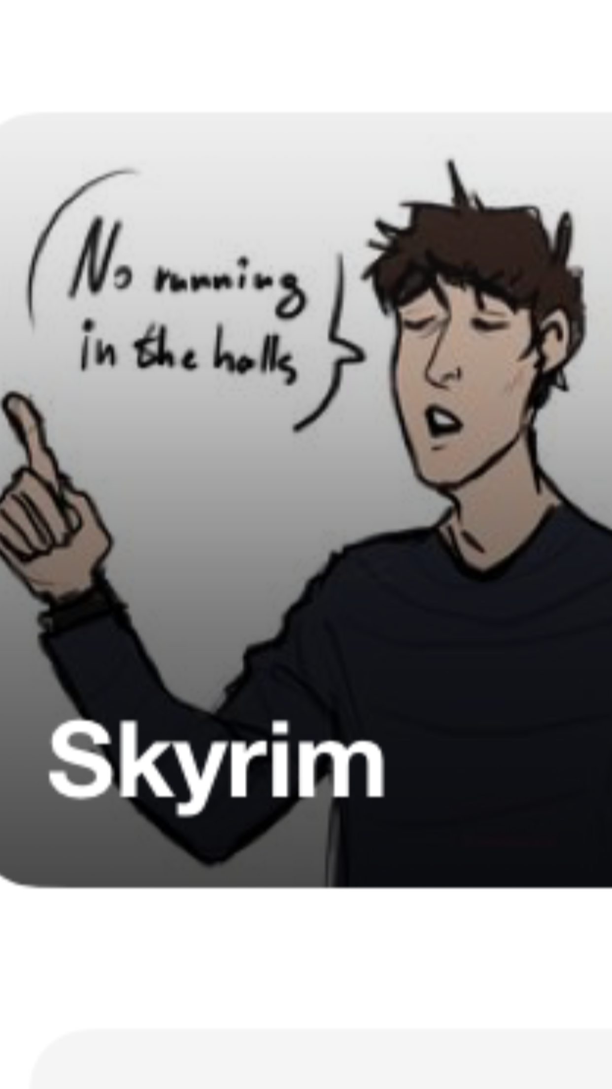 So Principal Of The Thing Is Actually From Skyrim Skyrim The Thing Is Okay Gesture