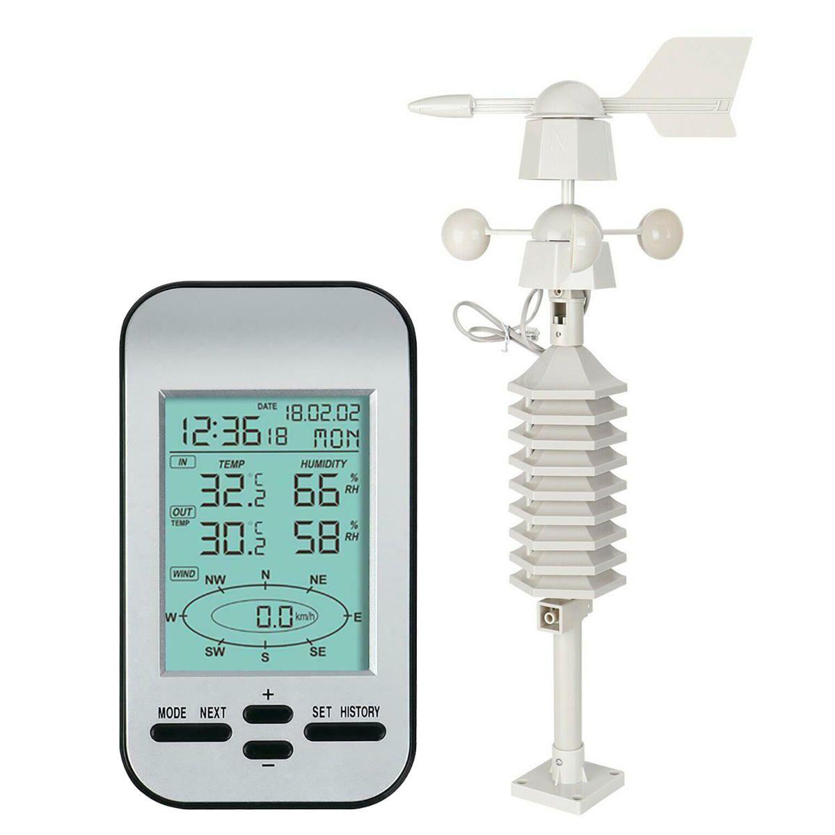 Us 63 38 29 Off Besprovodnaya Meteostanciya Rf 433 Mgc Chasy So Skorostyu I Napravleniem Vetra Datchik Instrument Weather Station Wind Speed And Direction Sensor