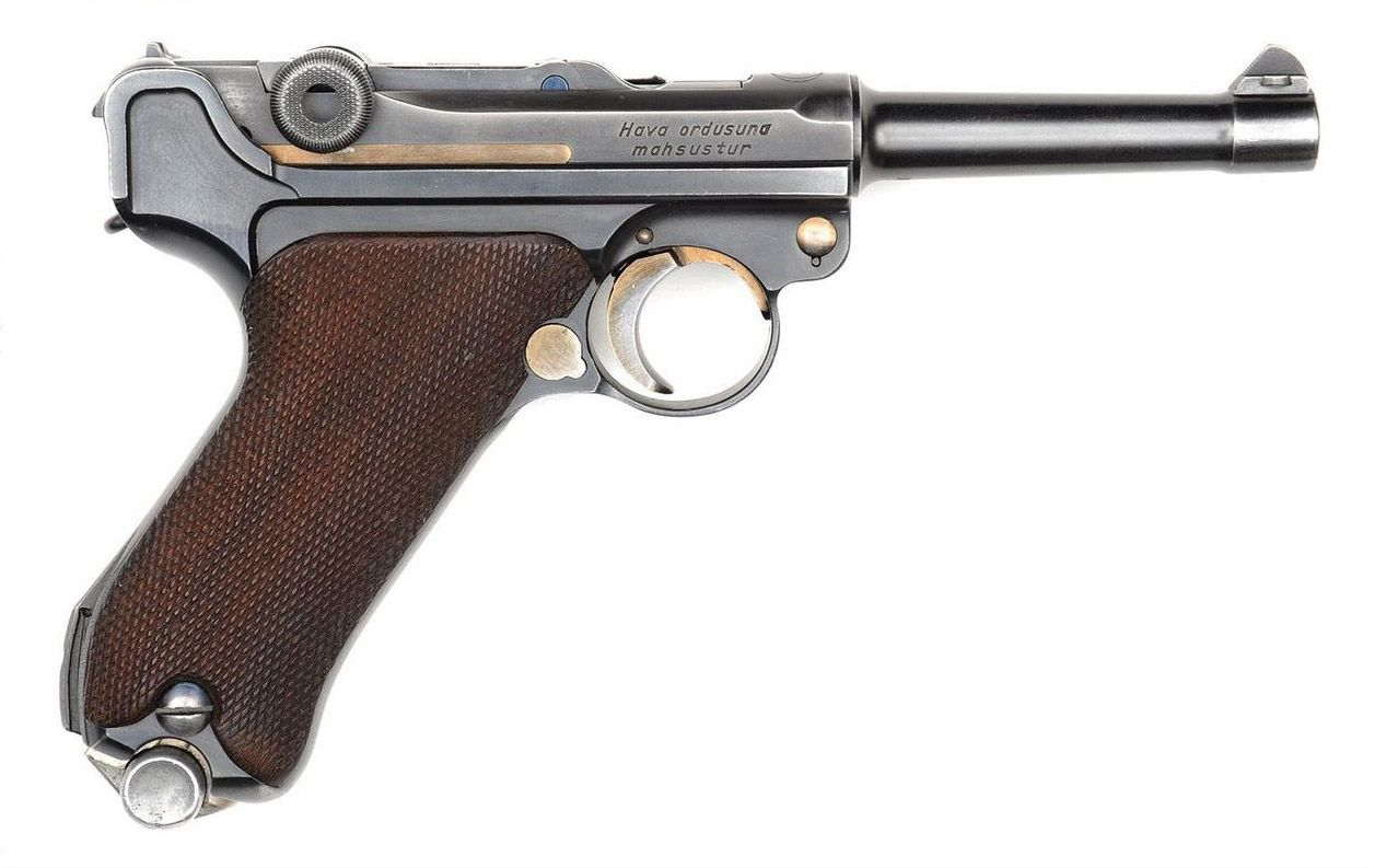 A Luger manufactured and marked by Mauser for the Turkish Air Force