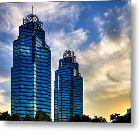 "Sold a 30.00"" x 24.13"" metal print of King and Queen Towers to a buyer from Atlanta, GA - Landmark skyscrapers in Sandy Springs Georgia"