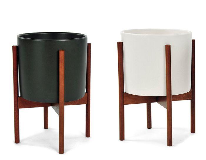 Case Study Planter Modernica Usa Pottery And Walnut 149 Small