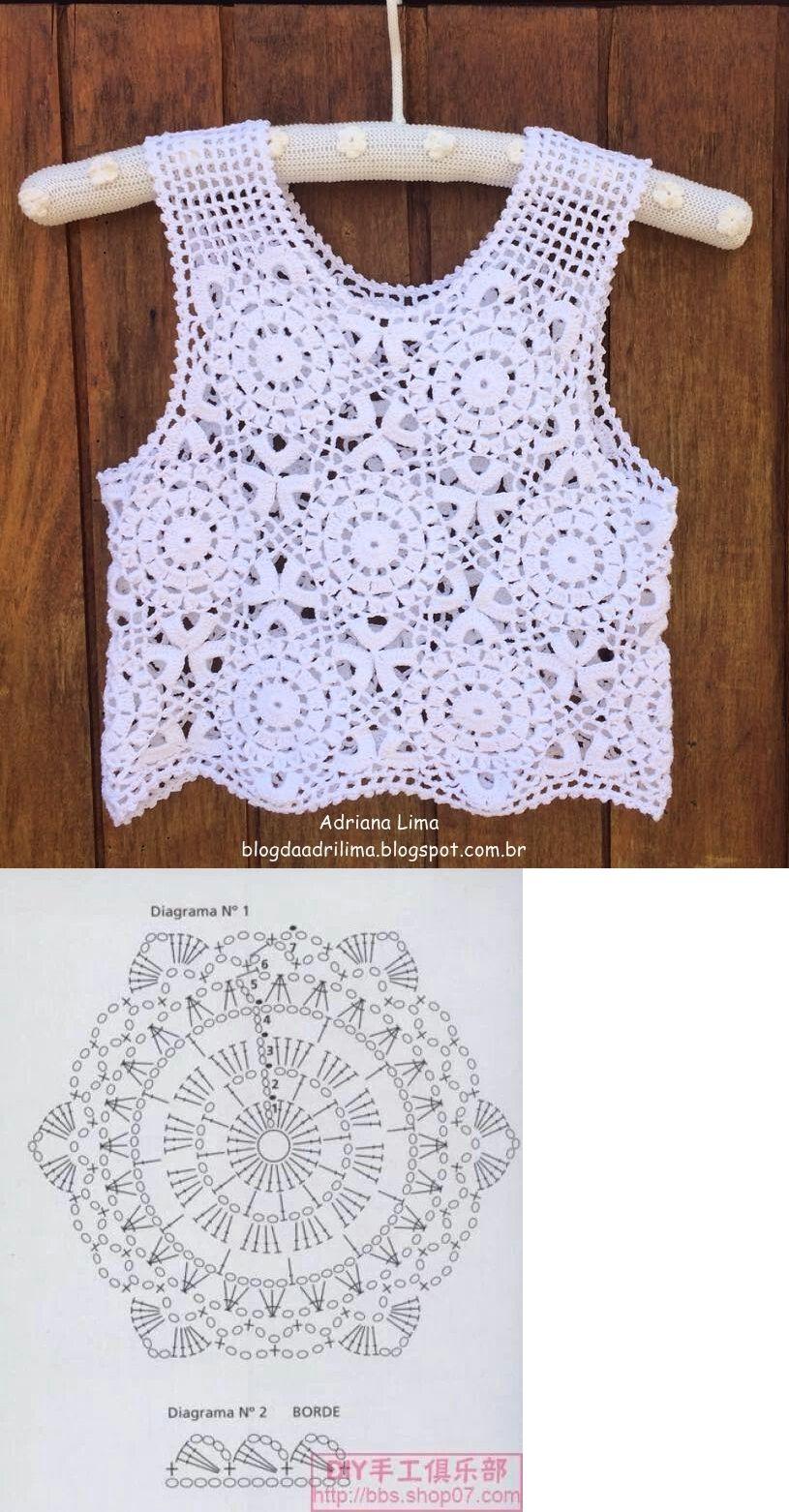 tapete en crochet | Knitting | Pinterest | Kleid tops, Top häkeln ...