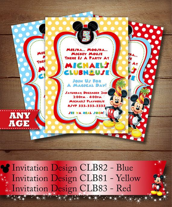 HUGE SELECTION Mickey Mouse Birthday por ThePrintableOccasion