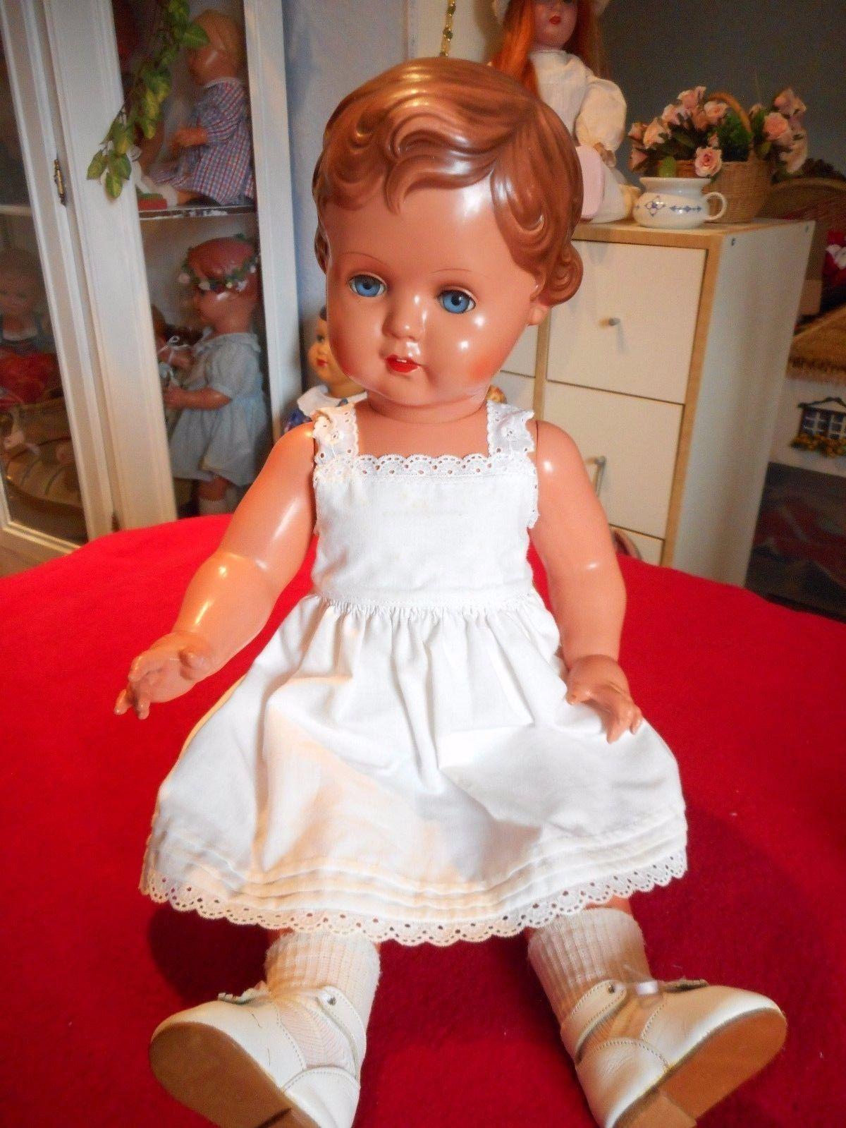 Dolls & Bears Lovely Künstlerpuppe Zelluloid Puppe 58 Cm Top Zustand