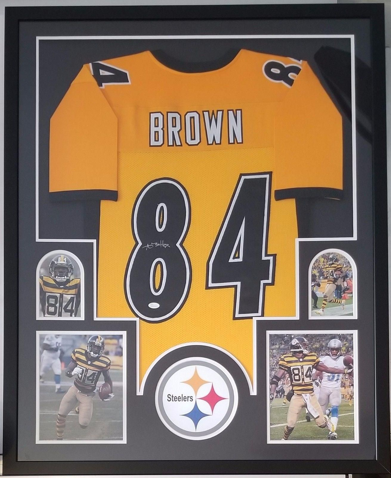 antonio brown signed framed jersey