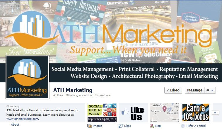 """""""Like"""" #ATH Marketing on #Facebook for tips and special offers! www.allthingshospitality.com"""
