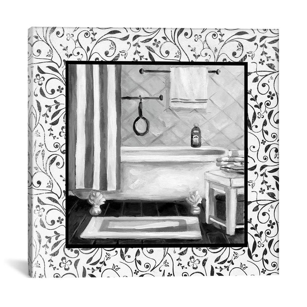 icanvas black and white bath i by carol robinson canvas on icanvas wall art id=54908