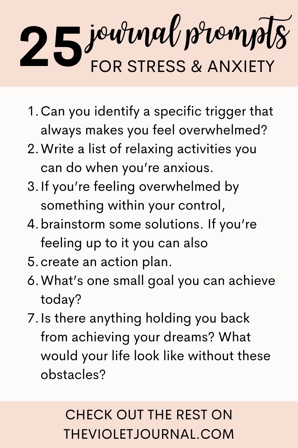 Journal Prompts for Stress and Anxiety