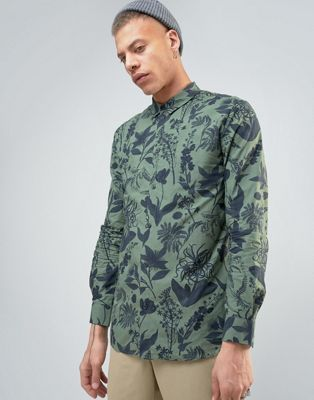 Weekday Florida AOP Print Shirt