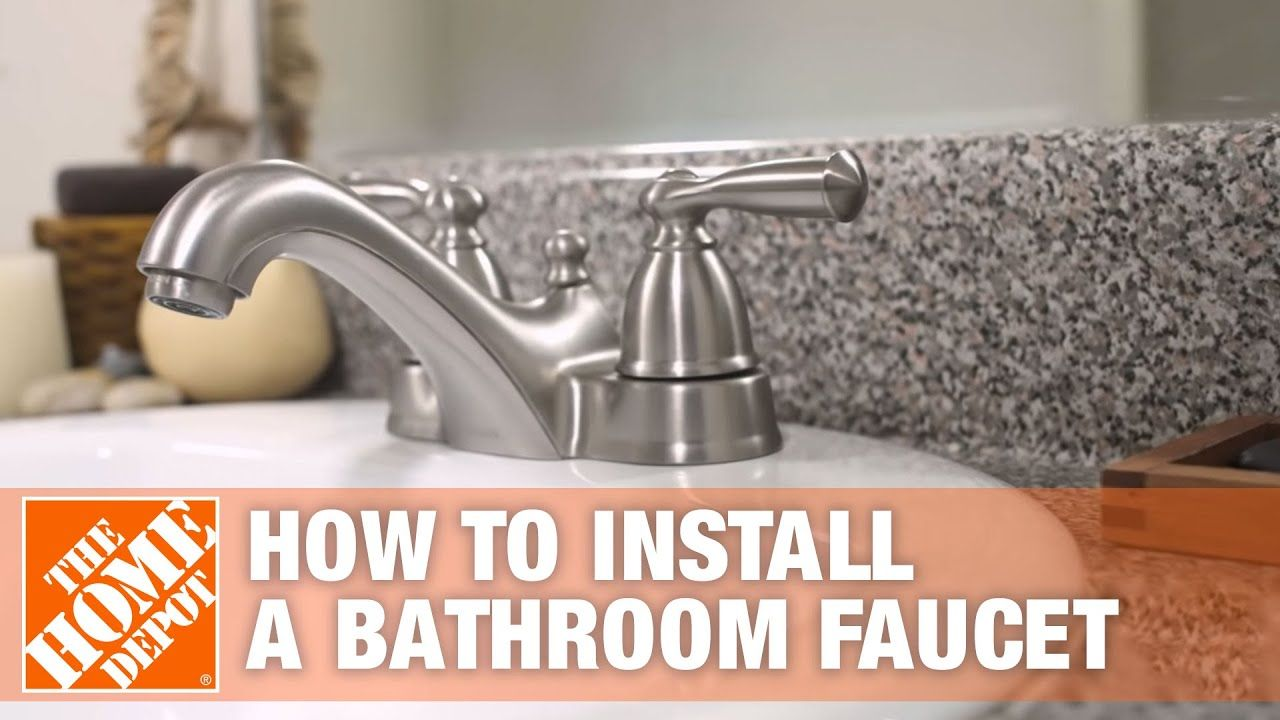 How To Install Or Replace A Bathroom Sink Faucet The Home Depot Youtube In 2020 Replace Bathroom Faucet Sink Faucets Bathroom Sink Faucets