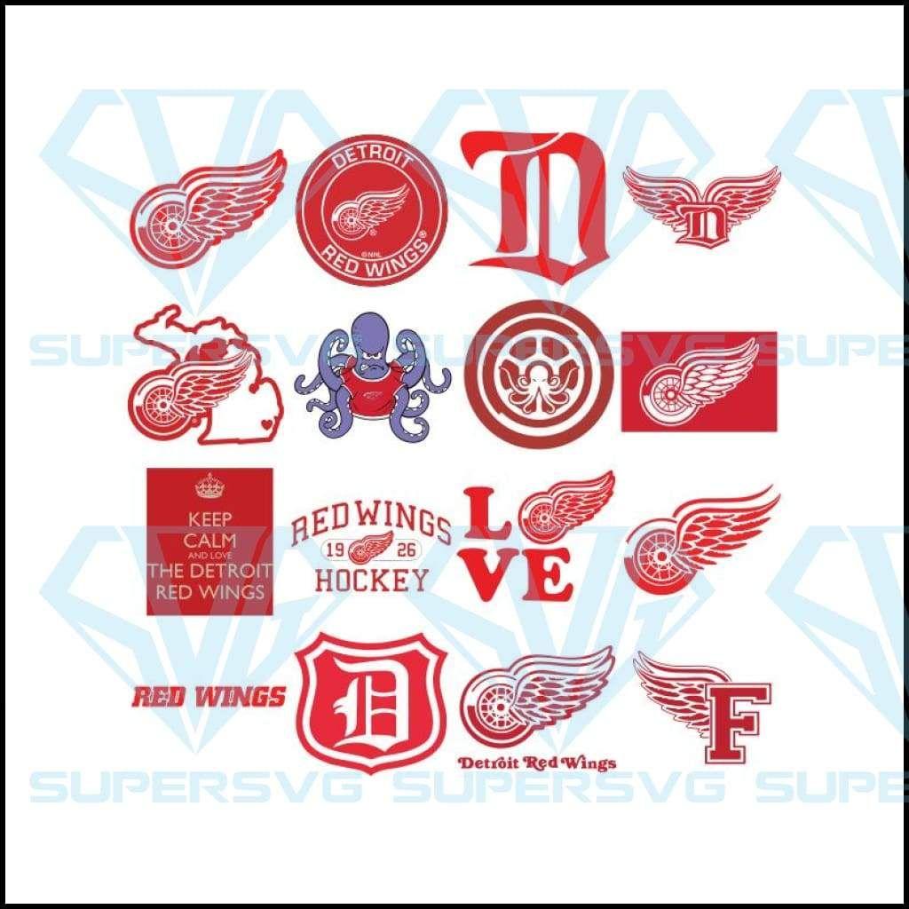 Detroit Red Wings Svg Cricut File Bundle Hockey Svg Nhl Svg Sport Svg Clipart Supersvg In 2021 Sports Svg Detroit Red Wings Red Wings