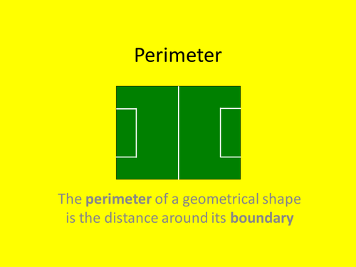 Maths KS2 Perimeter of rectangles etc. Full lesson for Yr 4 or ...