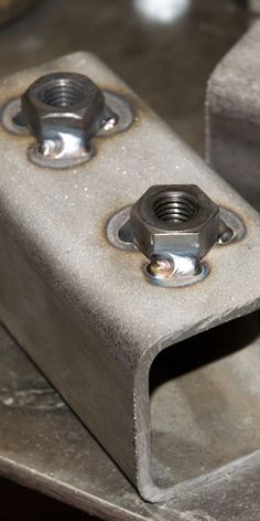 Hex Nut Welded On Square Tube Metalwork Pinterest
