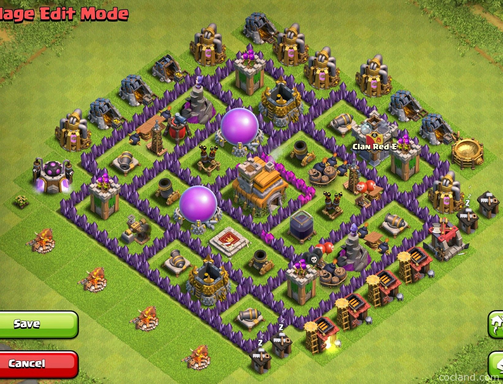 Th7 Home Base Design Part - 23: TH7 War Base - 3 Air Defenses - Anti Dragons/Hogs - Http://cocland.com/base -layouts/th7-war-base-3-air-defenses-anti-dragons-hogs | Pinterest |  Layouts And ...
