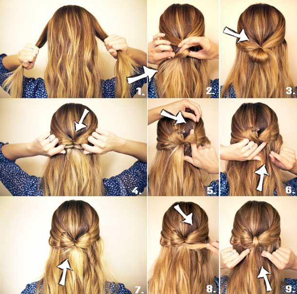 Укладка волос средней длины пошагово фото