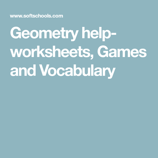 Geometry help- worksheets, Games and Vocabulary | AICLE Maths ...