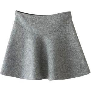 Todo-fósforo Natural cintura lana Umbrella Falda