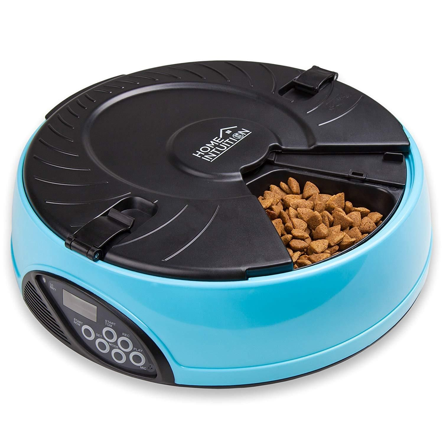 6 Meal Automatic Pet Feeder with Programmable Timer Pet