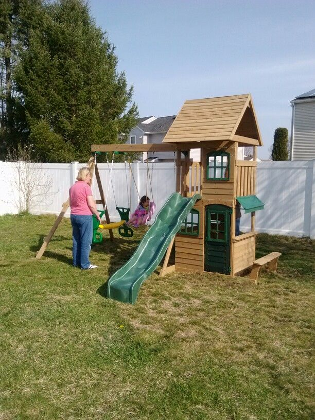 Big Backyard Windale Playset From Toys R Us Installed In Sewell Nj