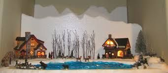 Diy Fake Pond For Christmas Village Google Search