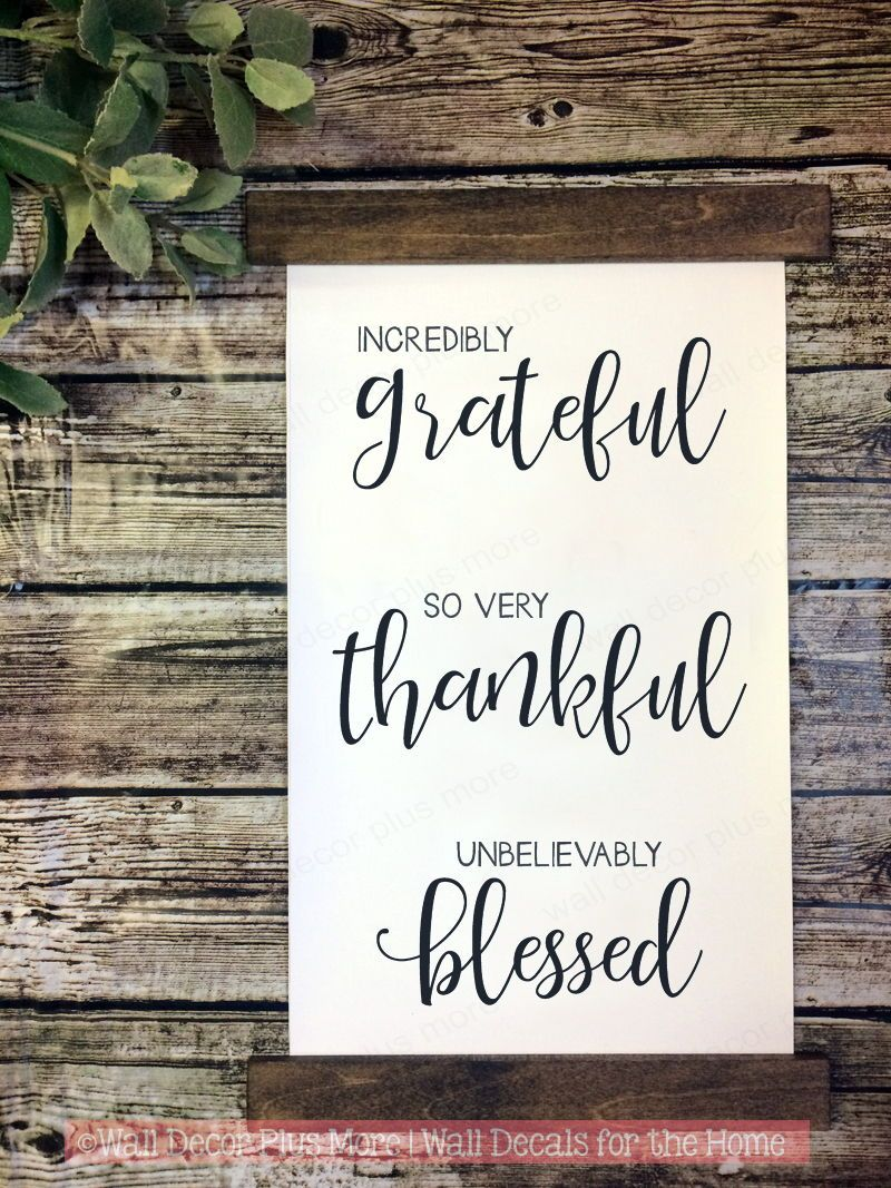 Wood Canvas Wall Hanging Grateful Thankful Blessed Wall Art Sign Canvas Wall Hanging Wall Canvas Wall Decor Quotes