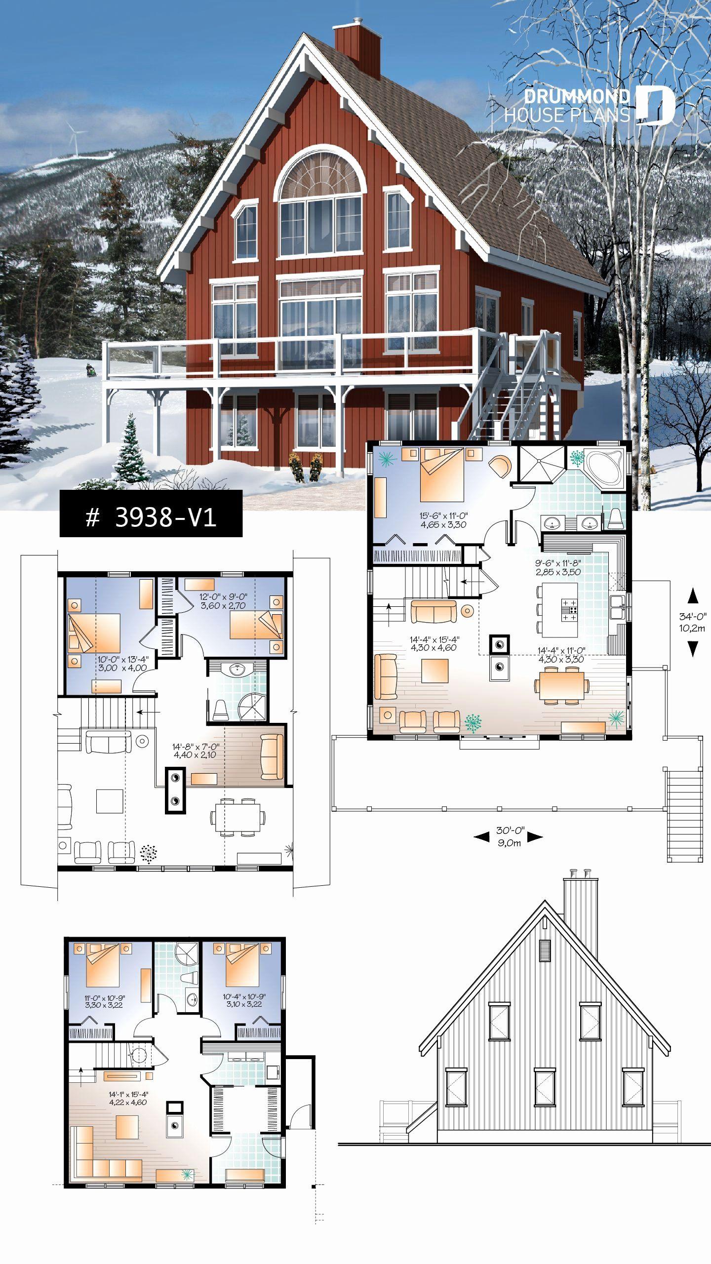 5 Bedroom Lake House Plans Fresh 5 Bedroom Rustic Chalet A Frame House Plan Open Living Cottage Plan Lake House Plans Sims House Plans